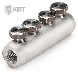 Соединители болтовые СБП (КВТ) предназначены для соединения кабелей с изоляцией из сшитого полиэтилена на напряжение до 10 кВ