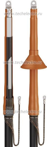 Концевые кабельные муфты 1ПКВТ-10, 1ПКНТ-10, Муфты термоусаживаемые концевые внутренней и наружной установки на напряжение 6 и 10 кВ для одножильных кабелей с изоляцией из сшитого полиэтилена
