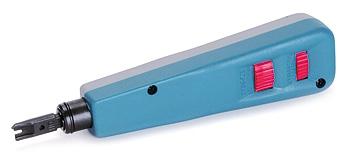 Инструмент для заделки витой пары в кросс-панель, с ножом