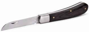 Нож монтерский малый складной с прямым лезвием НМ-03 (КВТ) предназначен для снятия изоляции и оболочки кабеля, зачистки жил от окисной пленки