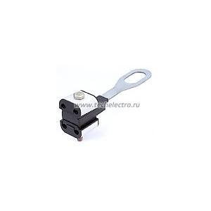 Тип: ЗАН-4  Предназначен для анкерного или промежуточного крепления 2-х или 4-х изолированных проводов абонента Изготовлен из стали горячего цинкования и полимера, усиленного стекловолокном и стойкого к ультрафиолетовому излучению и погодно-климатическим условиям Отверстие в крепежной пластине размером 22х40 мм позволяет осуществлять крепление зажима на стандартных крюках и кронштейнах Крышки корпуса обеспечивают равномерное распределение механической нагрузки на изоляцию провода Зажим может быть использова