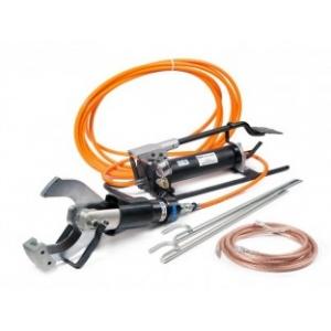 Комплект гидравлических ножниц с ножной помпой для резки кабелей под напряжением НГПИ-105 (KBT)