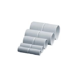 Соединитель  жёсткий для труб со степенью защиты IP40, применяют при монтаже жёстких или гофрированных труб, это позволяет выполнить более эстетичный и качественный монтаж. Соединители поставляются для труб: 16, 20, 25, 32, 40, 50 и 63 диаметра. Соединитель  жёсткий предназначен для соединения жестких или гофрированных труб одного диаметра. Соединители рекомендуется использовать в сухих помещениях.