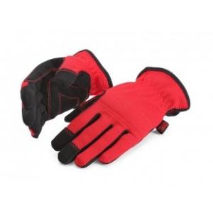 Перчатки электромонтажника С-31 Прочные усиленные перчатки из прочных и долговечных синтетических материалов Поставляются двух размеров: M (8) и L (9) Состав: - ладонная сторона: 95% полиэстер, 5% эластан - тыльная сторона: 50% полиэстер, 50% полиуретан Благодаря эластичным материалам идеально облегает кисть руки Специальный материал на ладони и пальцах обеспечивает повышенное сцепление перчатки с предметами, предотвращая их выскальзывание Мягкая вставка на ладони защищает ее от натирания Мягкая вставка на