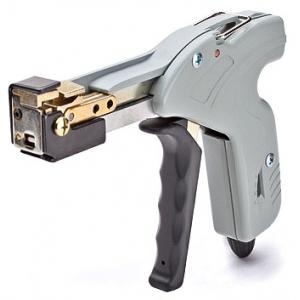 Инструмент для монтажа стальных стяжек с регулятором усилия затяжки и автоматической обрезкой